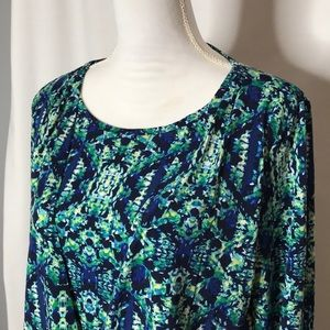 Chico's Size 1 Surplice Layered Top